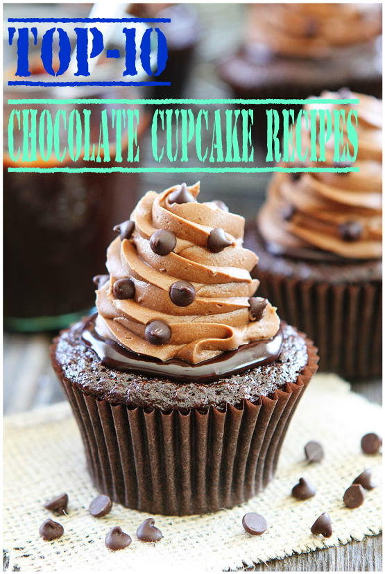 Top-10 Chocolate Cupcake Recipes