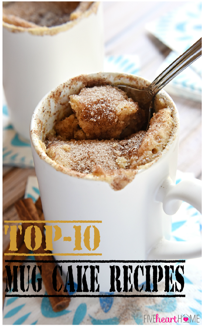 Top-10 Mug Cake Recipes