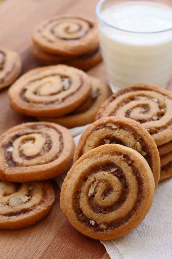 Cinnamon Bun Icebox Cookies