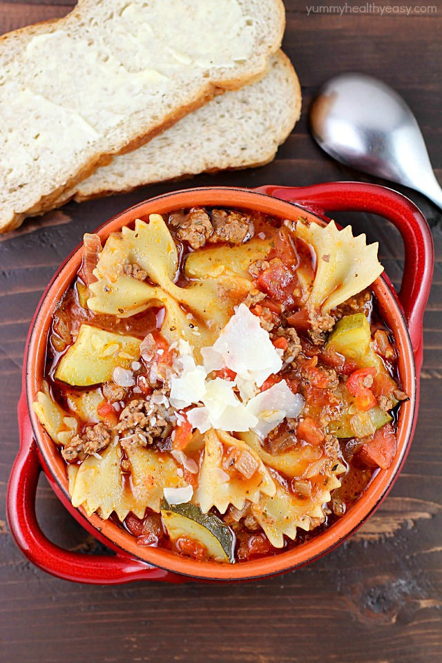 One Pot Easy Lasagna Soup