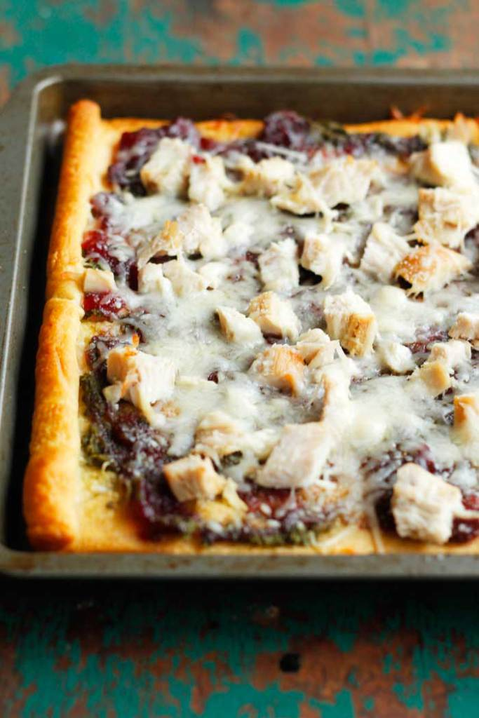 Turkey Cranberry Crescent Pizza
