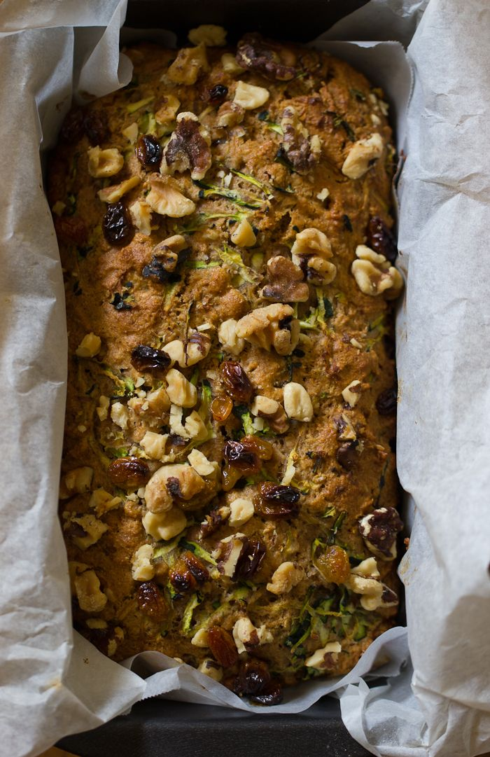 Whole Grain Zucchini Bread with Honey & Walnuts