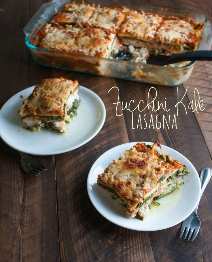 Zucchini and Kale Lasagna