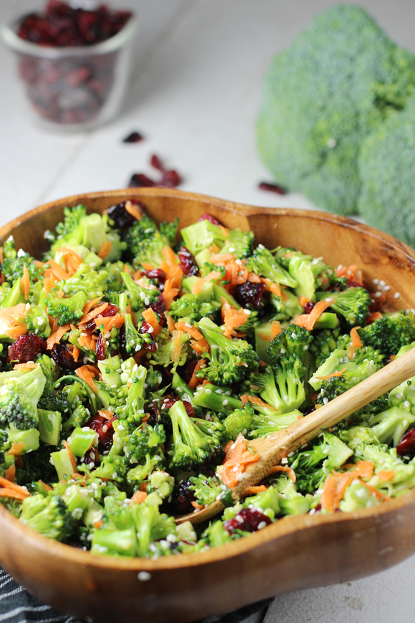 Broccoli Salad Recipe with Honey Sesame