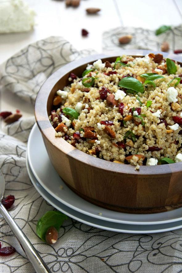 Cranberry & Smoked Almond Quinoa Salad with Balsamic Vinaigrette
