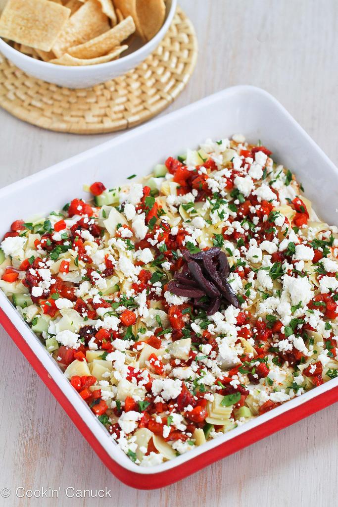 Healthy Mediterranean 7-Layer Dip