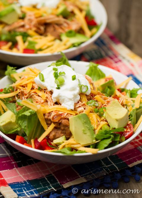 Shredded Chicken Taco Salad