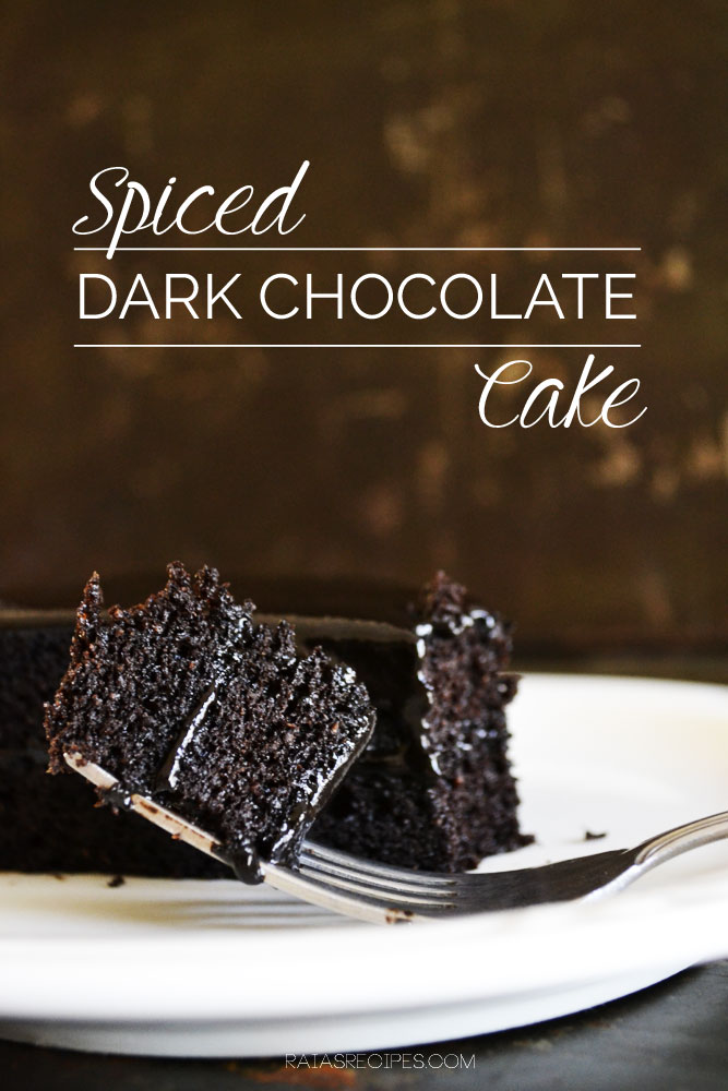 Spiced Dark Chocolate Cake