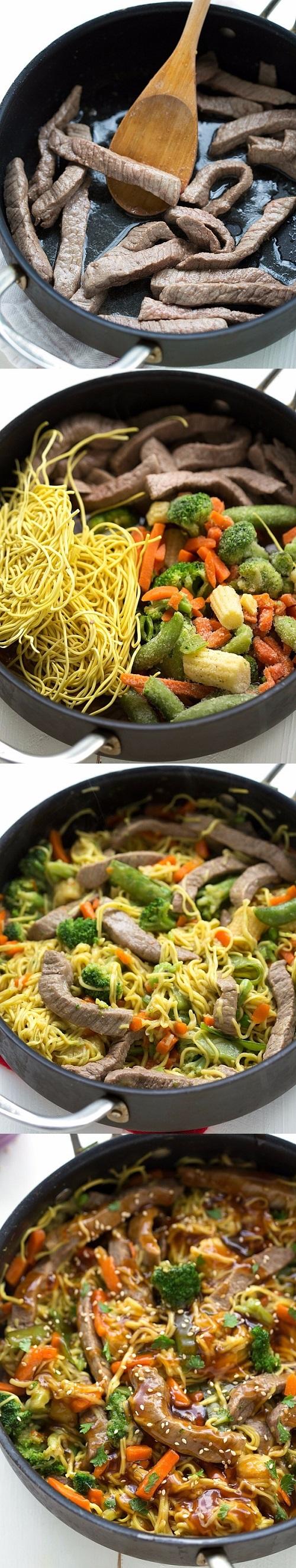 Beef Chow Mein Stir Fry