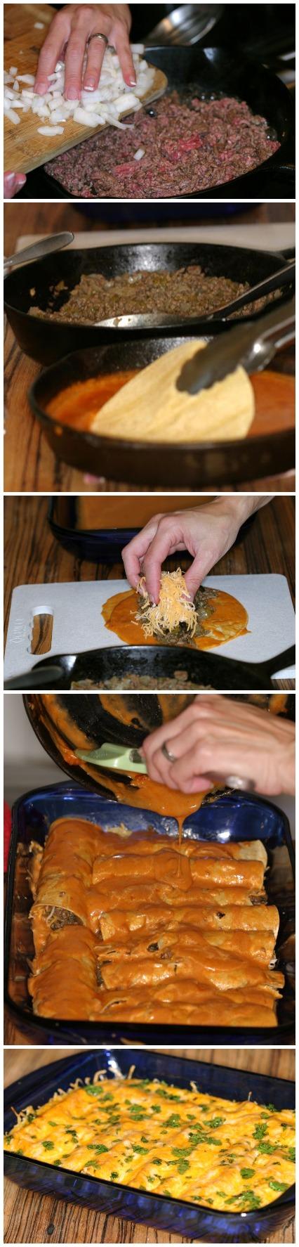 Easy Beefy Enchiladas