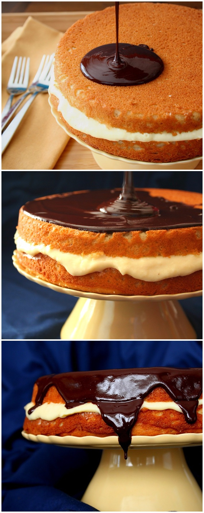 Low Carb and Gluten Free Boston Cream Pie