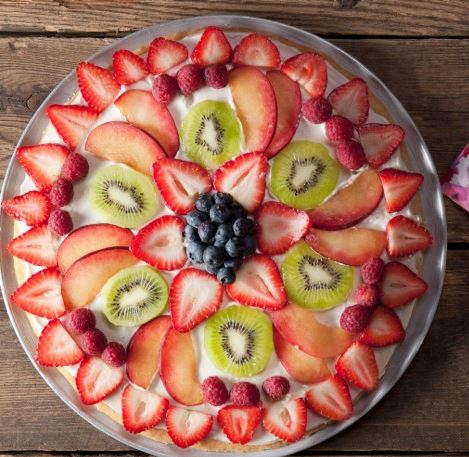 Sugar Cookie Crust Fruit Pizza